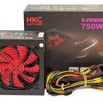 HKC V-Power 750W ATX pour PC, avec Bloc D'alimentation, Protection Circuit: OPP, Kit, Emballage D'origine, SCP, 20+ 4Broches D'alimentation d'énergie, PFC Actif, Silencieux, 120mm Fan de la marque HKC image 4 produit