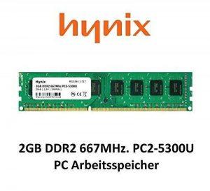 Hynix 2Go DDR2667MHz PC2–5300(240broches) PC mémoire vive 3rd DIMM de la marque Maxano® image 0 produit
