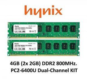 Hynix 4GB Dual Channel Kit (2x 2Go) DDR2800MHz PC2–6400(240broches) PC mémoire vive 3rd DIMM de la marque Maxano® image 0 produit