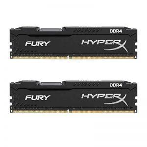 HyperX Fury - HX421C14FBK2 - Mémoire RAM 8 Go Kit (2x 4 Go) - 2133MHz, DDR4 Non-ECC, CL14 DIMM (Compatible avec Skylake) de la marque HyperX image 0 produit