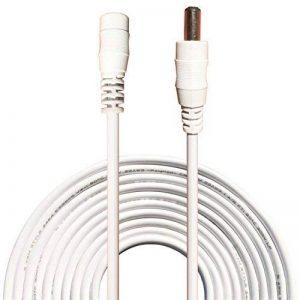 kabenjee 10m/33ft Câble d'extension Bloc d'alimentation DC, 5,5mm x 2.1mm DC Rallonge connecteur pour bande LED avec fil CCTV caméras de surveillance de voiture, DVR, AHD Systèmes Caméra, WiFi routeur, PoE de la marque Kabenjee image 0 produit
