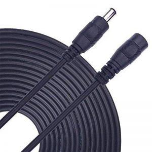 kabenjee Câble d'extension 5m Bloc d'alimentation DC, 5,5mm x 2.1mm DC connecteur fil Rallonge pour bande LED, routeur, voiture, systèmes de vidéosurveillance CCTV DC Câble d'extension, Top Box TV Câble d'alimentation de la marque K image 0 produit