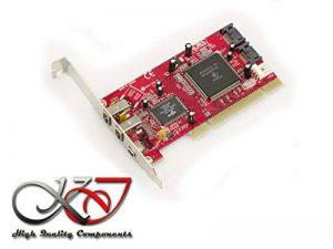 KALEA-INFORMATIQUE © - Carte contrôleur PCI FIREWIRE 400 (Ieee1394a 3 PORTS) + SATA (2 PORTS) - Gamme Professionnelle / COMPOSANTS HAUTE QUALITE - Pilotes Préinstallés pour Windows / Mac / Linux ! de la marque KALEA-INFORMATIQUE image 0 produit