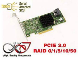 KALEA-INFORMATIQUE © - Carte contrôleur PCIe 3.0 SAS + SATA - 12GB - 8 PORTS - RAID 0 / 1 / 5 / 10 / 50 - MEGARAID 9341-8i - Microsoft® Windows® 2000, 2003, XP32/64, 2008, Vista32/64, Seven, 8, 8.1 et 10 (32/64) - Server 2012/2016, Linux®, FreeBSD, VMware image 0 produit