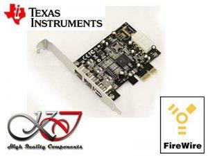 KALEA-INFORMATIQUE © - Carte Contrôleur PCIE FIREWIRE 800 et 400 IEEE1394A et IEEE1394B sur port PCI EXPRESS 1x (PCI-E) - 2+1 Sorties - Chipset TI TEXAS INSTRUMENTS de la marque KALEA INFORMATIQUE image 0 produit