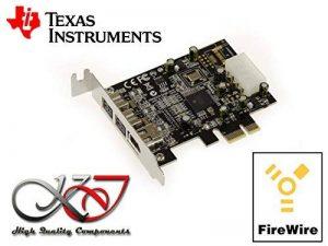 KALEA-INFORMATIQUE © - Carte Contrôleur PCIE LOW PROFILE FIREWIRE 800 et 400 IEEE1394A et IEEE1394B sur port PCI EXPRESS 1x (PCI-E) - 2+1 Sorties - Chipset TI TEXAS INSTRUMENTS de la marque KALEA INFORMATIQUE image 0 produit