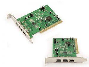 KALEA-INFORMATIQUE - Carte Controleur FireWire 800 IEEE1394B et 400 IEEE1394A sur port PCI - 2+1 PORTS - Chipset TEXAS INSTRUMENT SN082AA2 de la marque KALEA-INFORMATIQUE image 0 produit