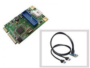 KALEA-INFORMATIQUE © - Carte Controleur Mini PCI EXPRESS (MiniPCIE) - 2 PORTS USB 3.0 (USB3 SUPERSPEED 5Gbps) - CHIPSET NEC de la marque KALEA INFORMATIQUE image 0 produit