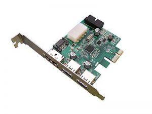 KALEA-INFORMATIQUE © - Carte Controleur PCI EXPRESS (PCI-E) vers USB 3.0 et POWER OVER ESATA - 2 + 2 PORTS USB3 / 1 PORT POeSATA - CHIPSET NEC de la marque KALEA-INFORMATIQUE image 0 produit