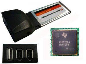 KALEA-INFORMATIQUE © - Carte Express Card (ExpressCard 34mm) - 1 Port USB2.0 + 2 Ports FireWire IEEE1394a - CHIPSET TI XIO2200A - TEXAS INSTRUMENTS de la marque KALEA INFORMATIQUE image 0 produit