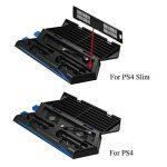 Keten Ventilateur pour PS4 Slim / PS4 Support Vertical Stand 2 en 1 [Nouvelle Version] Station de Chargement pour Manettes, Stockage de Jeux et Hub de 3 Ports - Produit Tout-en-un pour vos Besoins de la marque Keten image 3 produit