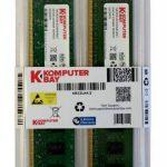 Komputerbay 4Go (2x 2Go) DDR2 800MHz PC2-6300 PC2-6400 DDR2 800 (240 PIN) DIMM ordinateur de bureau Mémoire de la marque Komputerbay image 1 produit