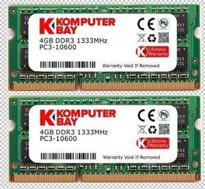 Komputerbay 8Go (2x 4Go) DDR3 SODIMM (204 broches) 1333Mhz PC3-10600 (9-9-9-25) PC portable Mémoire pour Apple Mac Mini de la marque Komputerbay image 0 produit