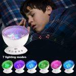 Lampe Projecteur LED, Simulation des Vagues Océan 7 Modes Veilleuse Enfant avec Télécommande Mini Enceinte Intégrée (Blanc) de la marque GRDE image 3 produit