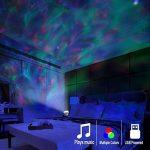 Lampe Projecteur LED, Simulation des Vagues Océan 7 Modes Veilleuse Enfant avec Télécommande Mini Enceinte Intégrée (Blanc) de la marque GRDE image 4 produit