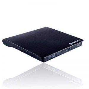 Lecteur CD DVD Externe Ultra Slim USB 3.0 Externe SATA Graveur DVD Multi-format CD RW Portable USB3 Ext Writer pour Windows et Mac OS pour Apple LG Samsung Lenovo – Noir de la marque COOLESTT image 0 produit