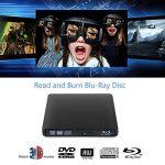 Lecteur DVD Blu Ray 4K 3D Externe Portable Ultra Slim USB 3.0 Graveur de CD-RW DVD-RW pour Mac OS, Linux, PC Windows XP/Vista / 7/8/10 Noir de la marque Moglor image 1 produit