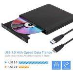 Lecteur DVD Blu Ray 4K 3D Externe Portable Ultra Slim USB 3.0 Graveur de CD-RW DVD-RW pour Mac OS, Linux, PC Windows XP/Vista / 7/8/10 Noir de la marque Moglor image 3 produit