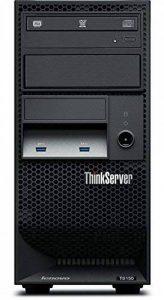 Lenovo ThinkServer TS150 3.3GHz Tower (4U) E3-1225V6 Famille Intel® Xeon® E3 250W Serveur - Serveurs (3,3 GHz, E3-1225V6, 8 Go, DDR4-SDRAM, 2000 Go, Tower (4U)) de la marque Lenovo image 0 produit