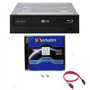 LG 16X Blu-ray M-Disc CD DVD Burner BDXL BD dur avec 1pk GRATUIT M Disc logiciel de gravure de lecture 3D DVD + Cyberlink + Câbles et vis de montage WH16NS40 de la marque Megalynx image 0 produit