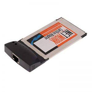 MagiDeal Carte Réseau Lan Carte 32bit 10/100mb Carte Adaptateur Pcmcia Rj-45 Rj45 Ethernet Noir de la marque MagiDeal image 0 produit