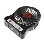Mini Ventilateur 3 Vitesses Modèle Ventilo USB Rechargeable Super Portable Ventilator de Bureau Table Léger Ventilatore Puissant et SilencieuxRefroidissement Mini Fan PC Cooling avec Éclairage LED de la marque Afinder image 3 produit