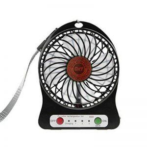 Mini Ventilateur 3 Vitesses Modèle Ventilo USB Rechargeable Super Portable Ventilator de Bureau Table Léger Ventilatore Puissant et SilencieuxRefroidissement Mini Fan PC Cooling avec Éclairage LED de la marque Afinder image 0 produit