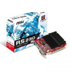 MSI R5 230 2GD3H Carte graphique ATI Radeon 625 MHz 2048 Mo PCI-Express de la marque MSI image 0 produit