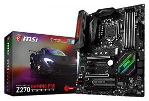 MSI Z270 Gaming Pro Carbon Carte mère Intel Socket LGA 1151 de la marque MSI image 0 produit