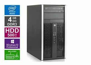 Ordinateur de Bureau HP 6200 Pro MT - Pentium G850 @ 2,9GHz - 4 Go RAM - 500 Go HDD -Lecteur DVD - Win 10 Pro (Reconditionné Certifié) de la marque HP image 0 produit