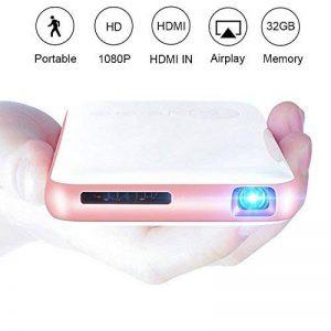 OTHA Mini Vidéoprojecteur, Pico Projecteur Portable Android 7.1 Home Cinéma, 32GB De Mémoire, Entrée HDMI sur PC Portable PS4, Ajustement Automatique des Trapèzes Bluetooth Projecteur de la marque OTHA image 0 produit