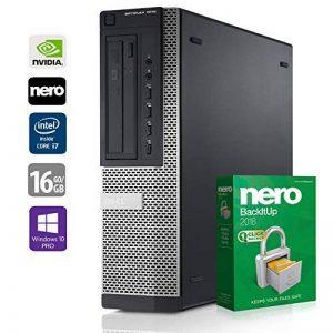 PC Gamer Multimédia Unité Centrale Dell 7010 DT - Nvidia Geforce GTX1050 - Core i7-3770 @ 3,4 GHz - 16Go RAM - 1000Go HDD - 240Go SSD - Graveur DVD - Win10 Pro 64 Bits (Reconditionné Certifié) de la marque Dell image 0 produit