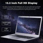 """PC Ordinateur Portable Notebook 13.3"""" - FHD IPS LED, Windows10 Intel Celeron N3450, 6Go Ram, 64Go Rom, 4000mAh Batterie, 0.3MP Caméra, WiFi Bluetooth, QWERTY - Yepo 737A PC Argent de la marque Yepo image 3 produit"""