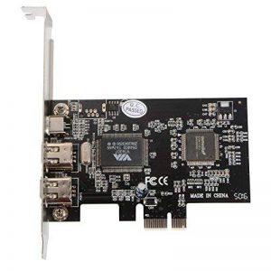 PCI-E Express FireWire 1394a 1-Lane iLINK IEEE1394 Expansion Controller Adapter Card for Desktop PC de la marque Sun3Drucker image 0 produit