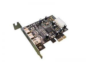 PCIe vers FireWire 800IEEE1394b et carte contrôleur FireWire 400IEEE1394a–PCI Express 1x–Chipset: Texas Instruments/Low Profile Version/ de la marque ADAPTER WORLD image 0 produit
