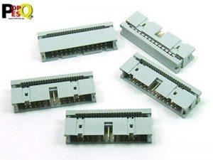 POPESQ® 5 pcs. x IDC 2.54mm Connecteur femelle Cable plat 26 voies/5 pcs. x IDC 2.54mm Socket Ribbon cable 26 way #A2060 de la marque POPESQ® image 0 produit