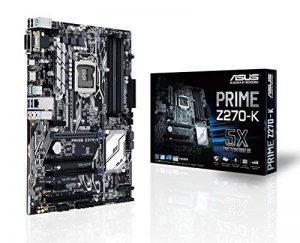 PRIME Z270-K | Chipset Intel Z270 | Socket 1151 | DDR4 | M2 | PCIE 16X - SATA3 - USB 3.1 A&C - HDMI - ATX | 90MB0S30-M0EAY0 de la marque Asus image 0 produit