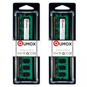 QUMOX 4Go(2x2Go) DDR2 800MHz PC2-6300 PC2-6400 DDR2 800 (240 PIN) DIMM Mémoire pour ordinateur de bureau de la marque QUMOX image 0 produit
