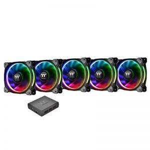 Riing Plus 12 RGB Radiator Fan TT Premium Edition 5 Pack de la marque Thermaltake image 0 produit