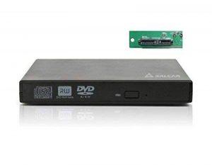 Salcar - Boîtier Externe USB2.0 pour lecteur graveur CD/DVD/ Blu−Ray 12,7 mm d'épaisseur de l'interface SATA (Noir) de la marque Salcar image 0 produit