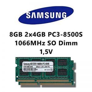 Samsung 8Go (2 x 4Go dual channel 1066MHz)-(pC3 8500S dDR3 sO-dimm pour ordinateur portable et notebook 1 mémoire rAM de la marque Samsung image 0 produit