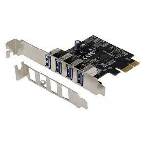 Sedna–PCI Express USB 3.1Gen I (5Gb/s) 4ports adaptateur avec équerre Low Profile–Prend en charge Windows, Linux et Mac Pro (2008à 2012Late Version), pas besoin de connecteur d'alimentation de la marque Sedna image 0 produit