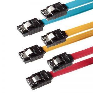 SET - 3x câble SATA 3 Poppstar SATA 3 HDD - SSD PREMIUM câble de données avec chacune 2x fiches clip droite de 7 broches- Longueur-0,5m - transfert de données rapide jusqu'à 6 Gbit-s - couleur- jaune-rouge- bleu de la marque Poppstar image 0 produit