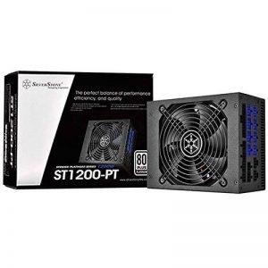 Silverstone SST-ST1200-PT - Série Strider Platinum, 1200W 80 Plus Platine ATX Alimentation PC, Bruit réduit, Bruit réduit, 139mm, Câblage 100% modulaire de la marque SilverStone Technology image 0 produit