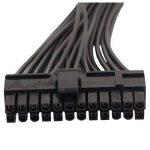 SODIAL (R) ATX Mining 30cm 24broches Double Bloc d'alimentation câble d'extension pour ordinateur adaptateur connecteur de câble pour mining 24pin 20+ 4broches de la marque SODIAL(R) image 3 produit