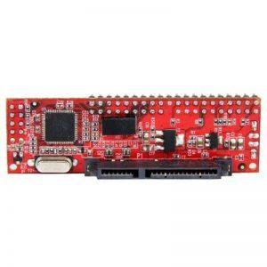 """StarTech.com Adaptateur Convertisseur IDE 40 pin PATA vers SATA pour DD / SSD 2.5"""" ou 3.5"""" et Graveur Optique 5.25"""" - IDE vers SATA de la marque StarTech.com image 0 produit"""