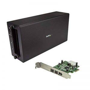 StarTech.com Adaptateur Thunderbolt 3 vers FireWire - Boîtier TB3 pour Carte PCIe avec Carte contrôleur FireWire à 3 Ports de la marque StarTech.com image 0 produit