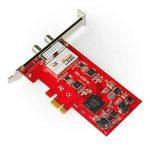 TBS®6281SE Carte PCIe Double Tuner DVB-T/T2 et DVB-C pour la réception télévision par TNT et Câble en HD - DVB-T2/T/C TV Tuner PCIe Card de la marque TBS image 2 produit