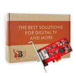 TBS®6281SE Carte PCIe Double Tuner DVB-T/T2 et DVB-C pour la réception télévision par TNT et Câble en HD - DVB-T2/T/C TV Tuner PCIe Card de la marque TBS image 4 produit