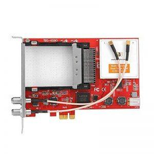 TBS6590 Carte PCI-e Double Tuner TV Universel Muti Standard avec Double CI Slot pour DVB-S2/S/S2X/DVB-T2/T/DVB-C2/C/ISDB-T pour la Réception TNT Satelite et Câble de la marque TBS image 0 produit